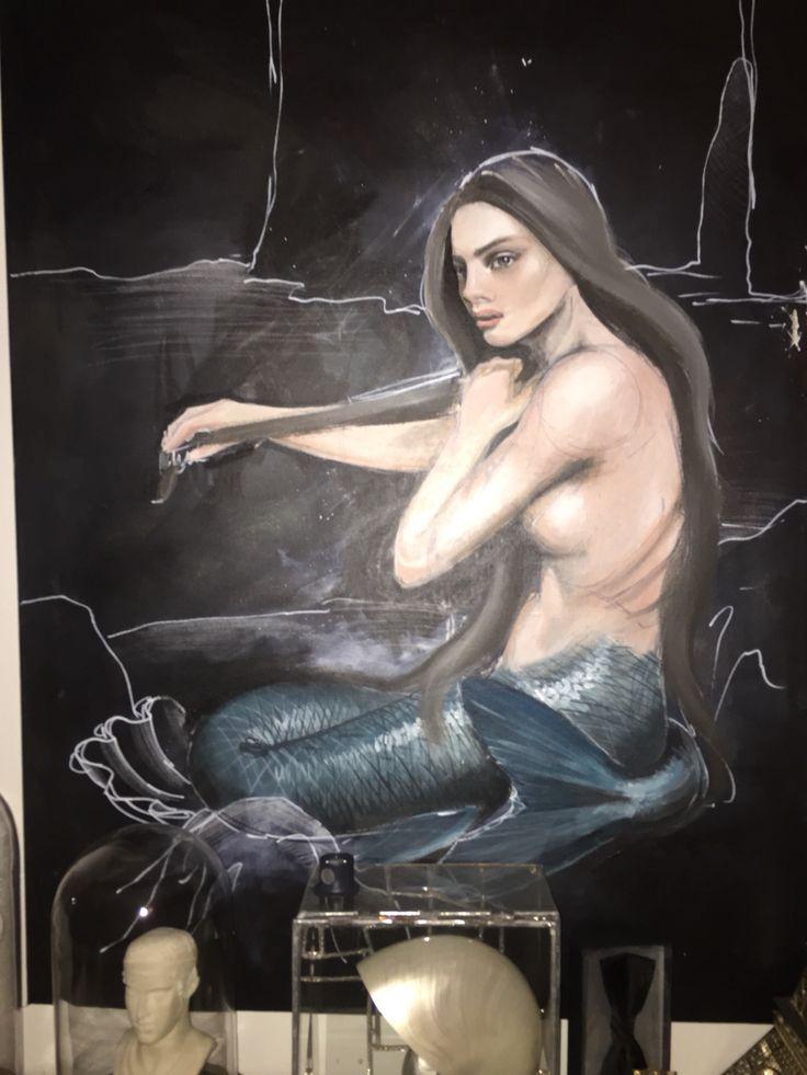 my favourite mermaid guarding my bedroom