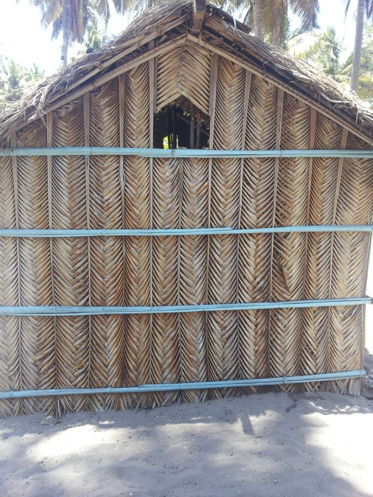 Plaited Palm Leaves made into pretty building