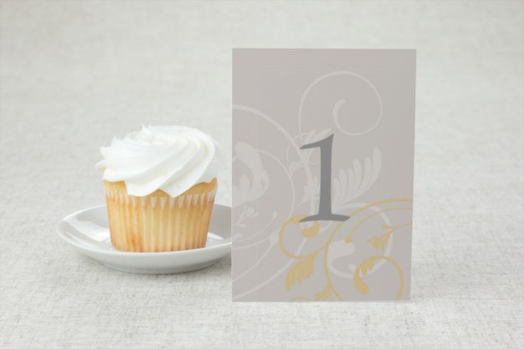 Flirty Flourish - Wedding Table Number by MagnetStreet