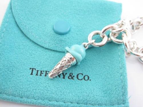Tiffany Co Silver Turquoise Blue Enamel Ice Cream Charm ...
