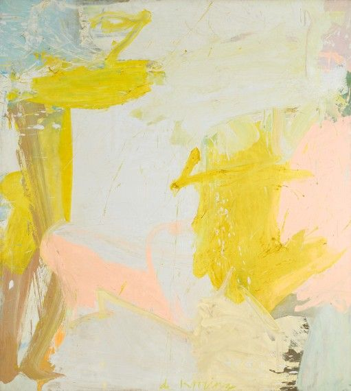 this was my favorite painting in the dekooning exhibit - ofcourse you really have to see it in person - this image doesn't do it justice. Rosy-Fingered Dawn at Louse Point  1963