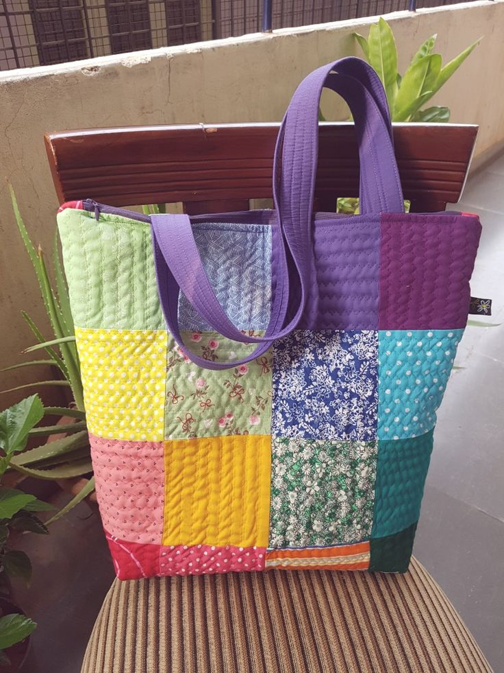Quilted tote no pattern inspiration only