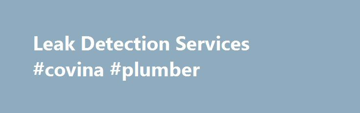 Leak Detection Services #covina #plumber http://lesotho.remmont.com/leak-detection-services-covina-plumber/  # Quality Leak Detection Services The Number One Leak Detection Company in the Country – and the World! American Leak Detection leads the industry in non-invasive, accurate leak detection. We back our services with over 40 years of experience and comprehensively train our technicians in leak detection. From leak detection in your home or business plumbing lines to main line water leak…