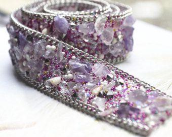 Rhinestone trim  bridal wedding belt trim crystal beaded