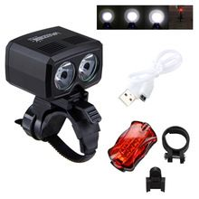 <Click Image to Buy> 5000LM Rechargeable USB Cycling Lights 2X XM-L T6 LED Front Bike Headlamp 5 Modes Torch Bicycle Accessories  Safety Rear Light ** View this trendy piece in details on  AliExpress.com. Just click the image