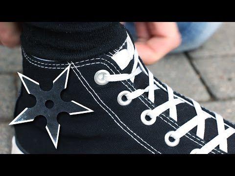 Как Завязывать Шнурки как Ниндзя? - YouTube