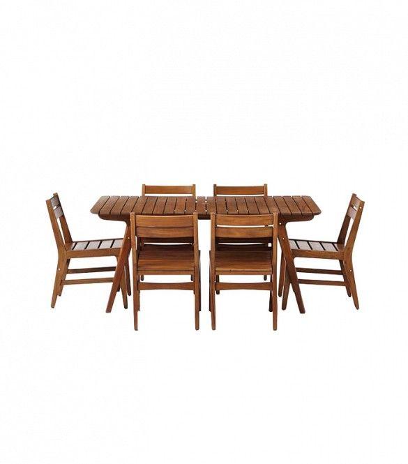 West Elm Midcentury Outdoor Dining Set ($1500)