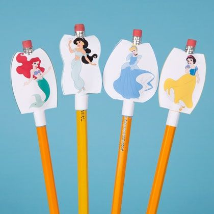 Disney Princess Pencil Toppers