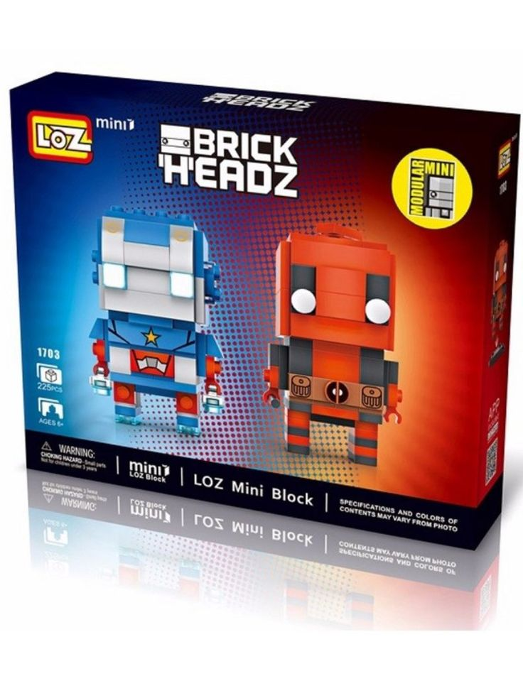 LOZ Mini Blocks Iron Man Deadpool Mini Series