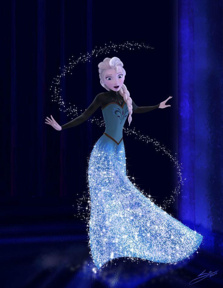 elsa frozen   Elsa Frozen Flying Art