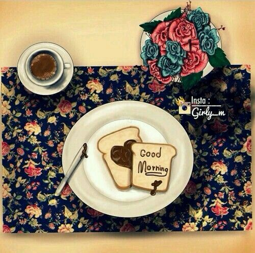 #girly_m #breakfast #morning