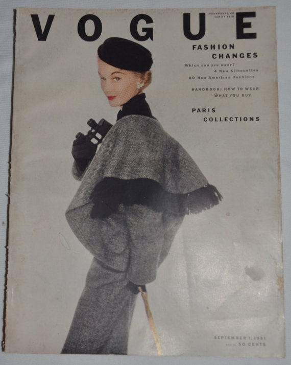 Vintage ORIGINAL VOGUE Thick September 1951 by whosyourdaddy71, $85.00