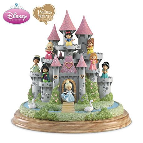 Precious Moments Ultimate Disney Princess Castle Sculpture -- WANT