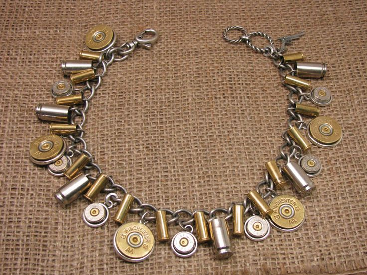 SureShot Jewelry - Loaded Shotgun and Bullet Casing Mixed Metal Boot Bracelet