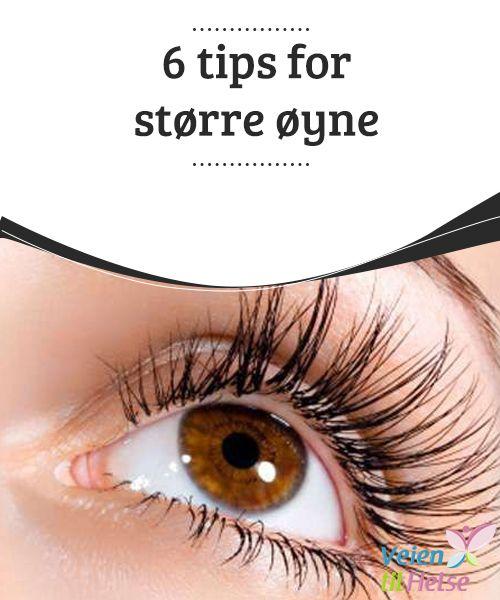 6 tips for større øyne  En av de mest #vanlige tipsene ved #påføring av makeup er å #fremheve kun et område i ansiktet. Om du ønsker å fremheve øynene, la #leppene være naturlige.