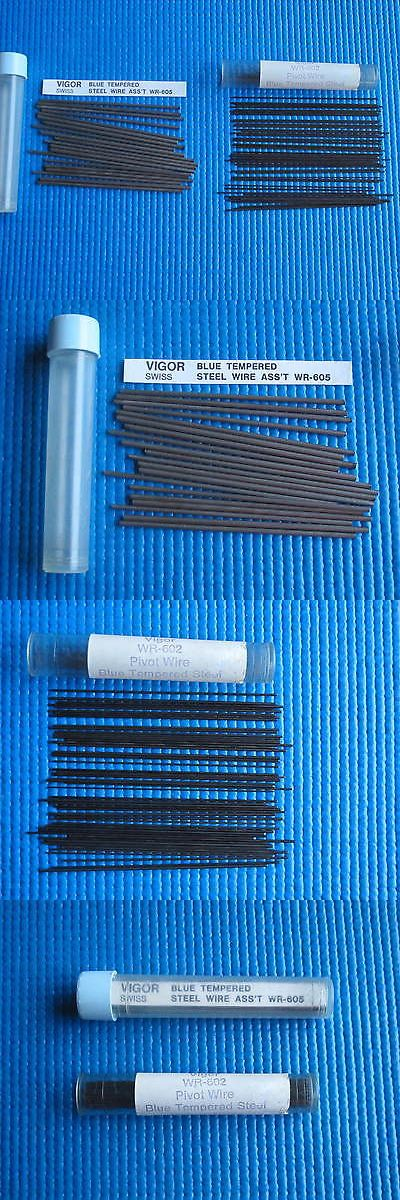Tools and Repair Kits 117039: Vintage Vigor Assorted Blue Tempered Steel Pivot Wire - Watchmaker Tool BUY IT NOW ONLY: $40.0