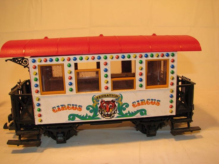 Vintage LGB Lehmann-Gross-Bahn Wilson Brothers Circus Passenger Car 3036 #LGB