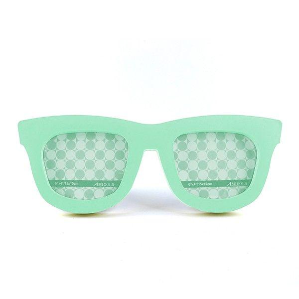Porta Retrato Duplo Óculos Verde Claro