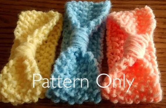 Baby Headband Pattern Knit Baby Pattern by MovieKnitter on Etsy