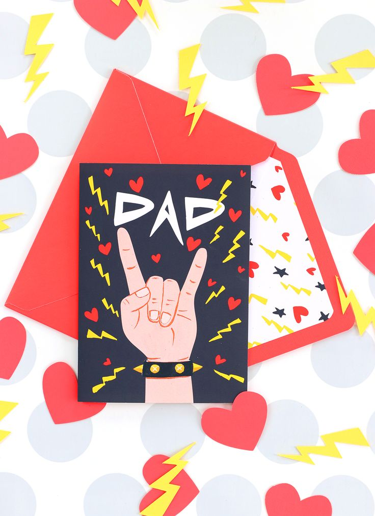 Free Printable Modern Father's Day Card | damask love