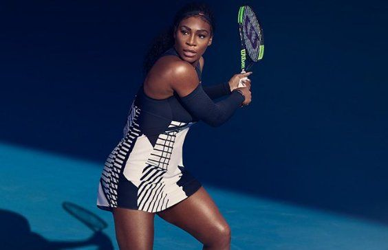 Bella. Music in Motion: Serena's Australian Open 2017 dress #nike #pianoprint