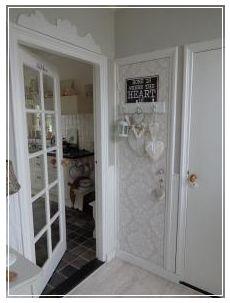 leuk idee, behang op de deur van de meterkast