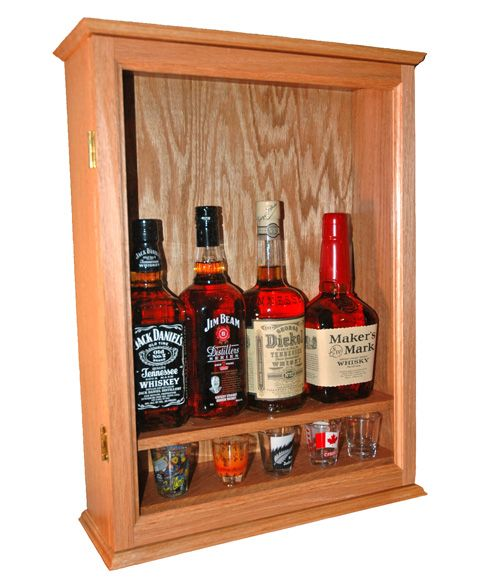 Real Wood Liquor Wall Cabinets Handmade In America With High Quality  Hardwood. Shop Online For Liquor Display Cabinets And Shot Glass Display  Cases Today!