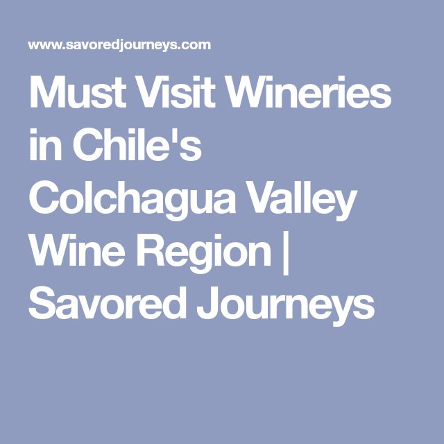 Must Visit Wineries in Chile's Colchagua Valley Wine Region | Savored Journeys