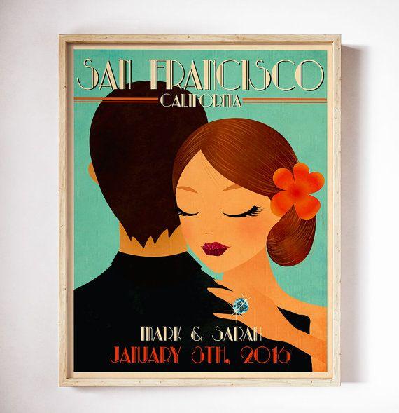 Personalized Vintage Wedding Poster Retro Wedding Poster Retro wedding Personalized Wedding Poster Custom Wedding Poster Unique Wedding Gift