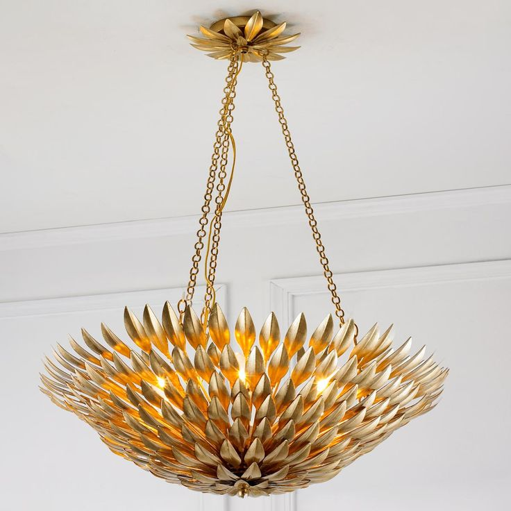 17 Best images about Gold Retold – Close to Ceiling Chandeliers