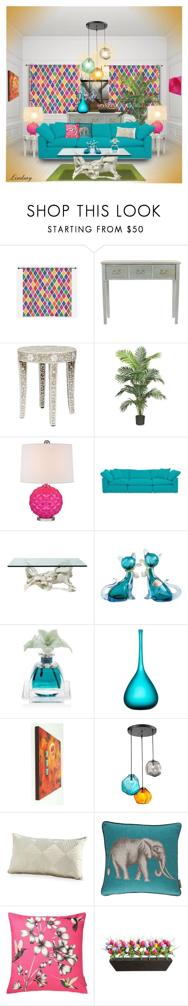 """""""Tricky Pattern: Harlequin"""" by lindsayd78 ❤ liked on Polyvore featuring interior, interiors, interior design, home, home decor, interior decorating, Nearly Natural, Lazy Susan, Joybird and Alfredo Barbini"""