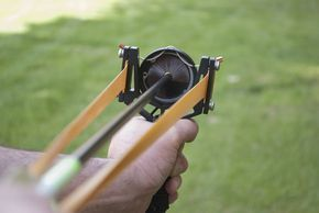 Montie Gear Whisker Biscuit Arrow Rest for the Y-Shot Slingshot. It turns your Y-Shot slingshot into a fun to shoot slingbow! Also available with breakdown arrows and a arrow holster. More info at http://www.montiegear.com/Whisker_Biscuit_Arrow_Rest