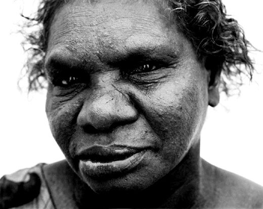 "Ricky Maynard  Wik Elder, Gladys, 2000  from ""Returning to Places that Name Us""   One of the first photographs I catalogued at the start of my career in museums... the light in her eyes still takes my breath away."
