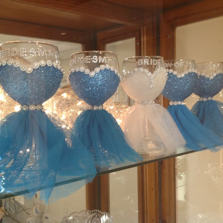 Bridal Party Wine glasses-£H