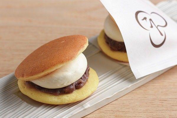 パンケーキ風スフレ生地を使ったどら焼き「ふわどら 生クリーム」、にほんばしえいたろう恵比寿店に
