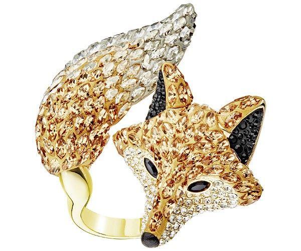 Gold Colour Metal Fox Head Cord Beads