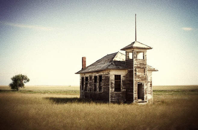 Old School House- Someday I want to live in a old school house. :)