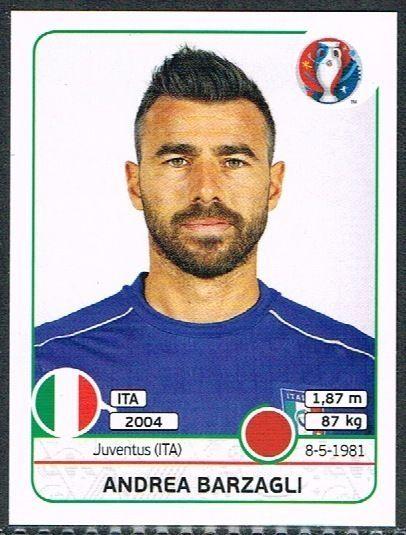 UEFA EURO 2016 Andrea Barzagli  Italy - 498 #Panini #stickers #Italy #Barzagli