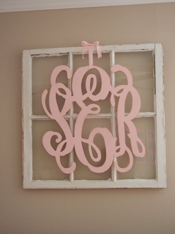 Wood letter Monogram in vine monogram font This by kygracedesigns, $75.00