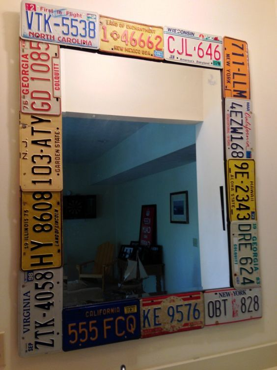 61 best decor license plate fun images on pinterest decorations crazy diy projects for vintage license plates solutioingenieria Choice Image