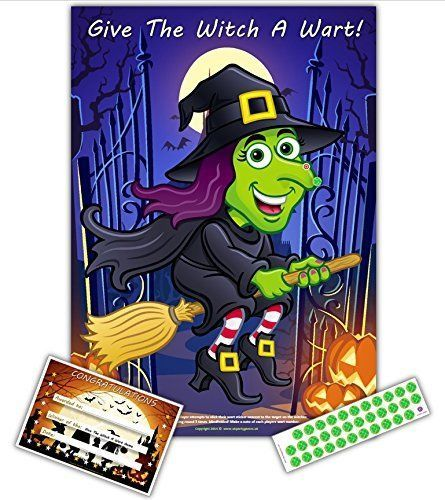Halloween Party Game- GIVE THE WITCH A WART Upto 35 Players