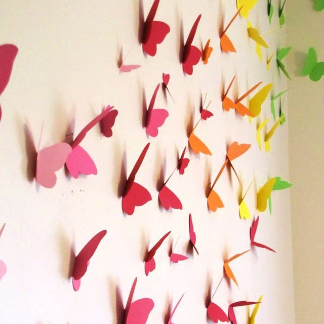 172 best paper wall art images on pinterest for Martha stewart butterfly template