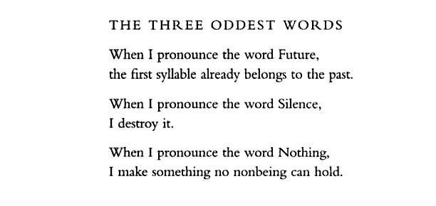 The three oddest words.