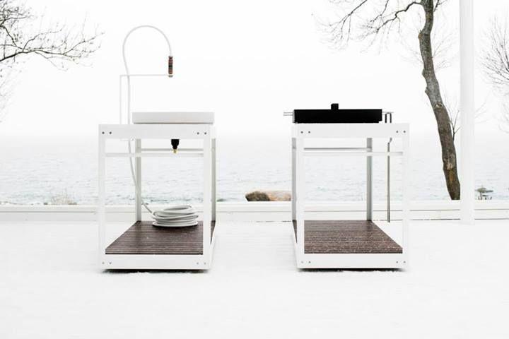 Ulaelu - estonian design, minimalistic outdoor kitchen solution