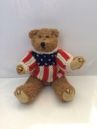 #TeddyBears #Teddy #Bears 1995 BERKELEY DESIGNS Nubby Plush Jointed Teddy Bear American USA Flag Sweater . #TeddyBears #Teddy #Bears