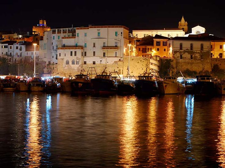 Termoli Italy at Night