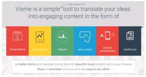 Visme Presentation Tool & Infographic Maker 1