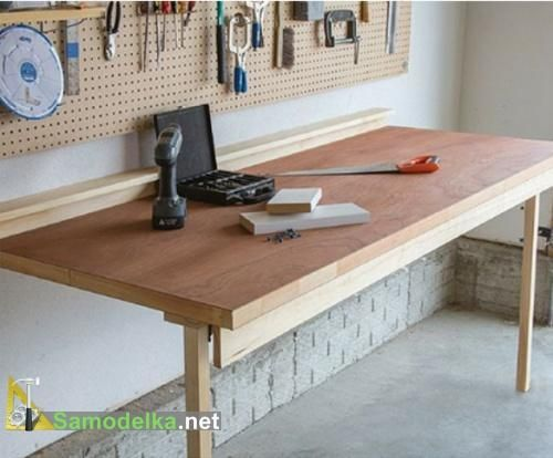 Откидной стол с креплением к стене + чертежи