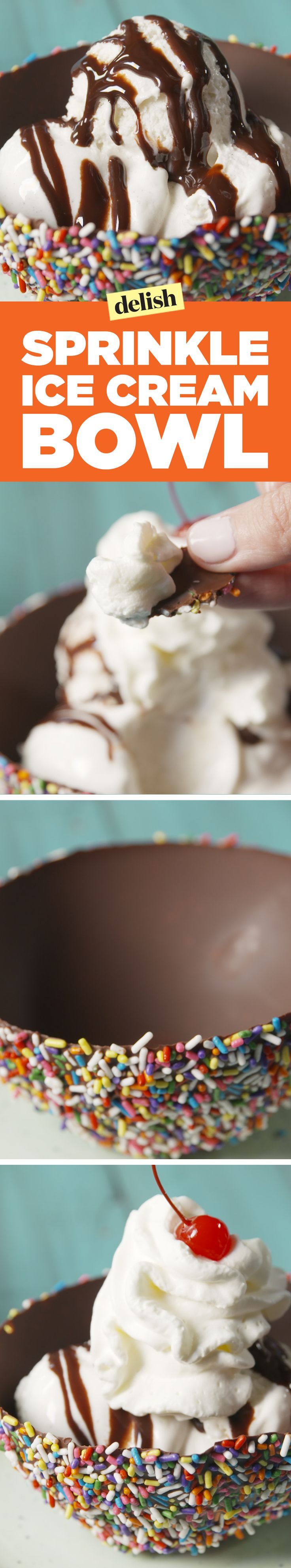Sprinkle ice cream bowls will change the way you eat ice cream forever. Get the recipe on Delish.com.