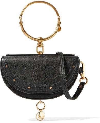 Chloé - Nile Bracelet Small Textured-leather Shoulder Bag - Black